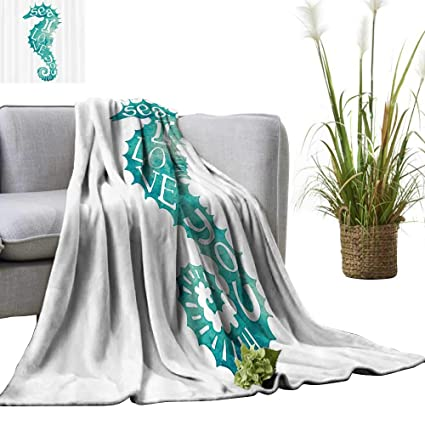 Amazon com: Warm Blanket I Love You Sea Quote with Pipefish