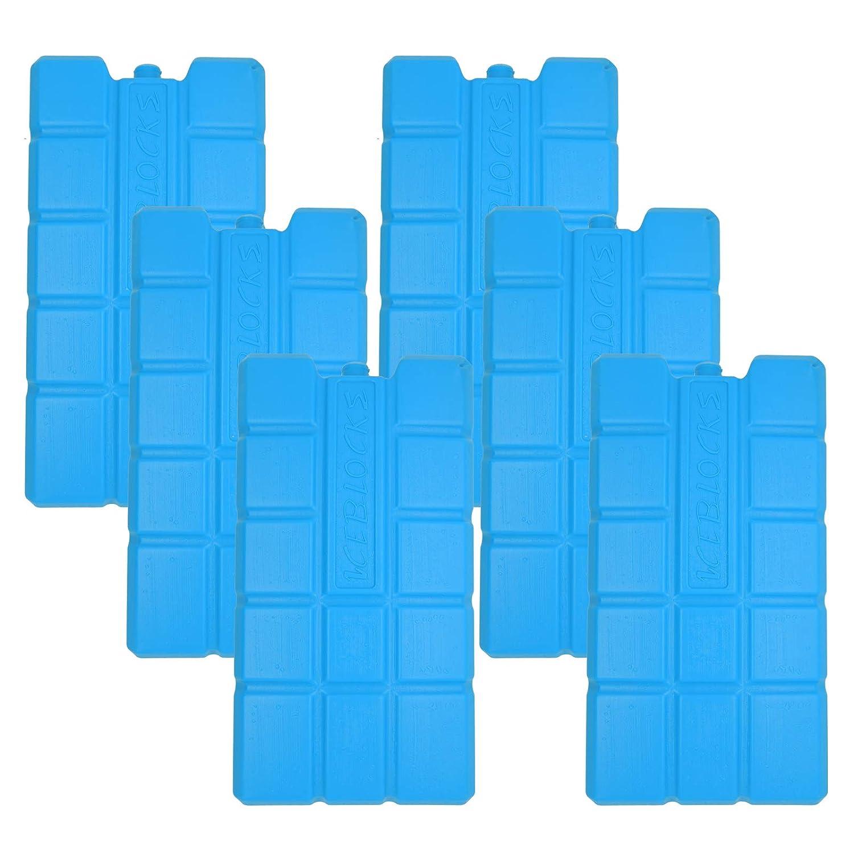 NEMT Lot de 6 accumulateurs de Froid 750 ML pour Sac Isotherme ou glacière