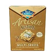 Blue Diamond Almonds Artisan Nut Thins Cracker Crisps, Multi-Seeds, 4.25 Ounce (Pack of 12)