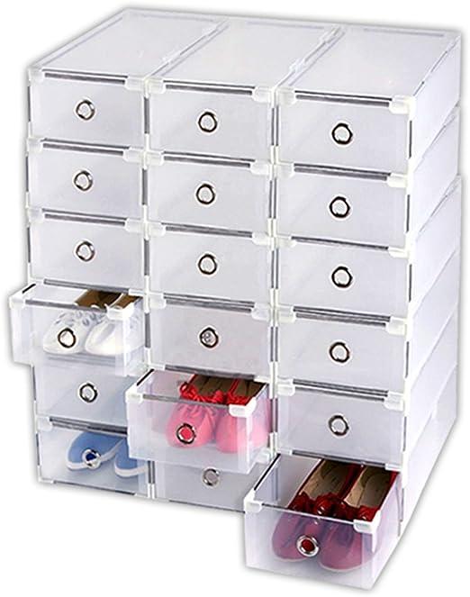 Aleto 18 x Caja apilable Caja de zapatos caja cartón Box – Caja ...