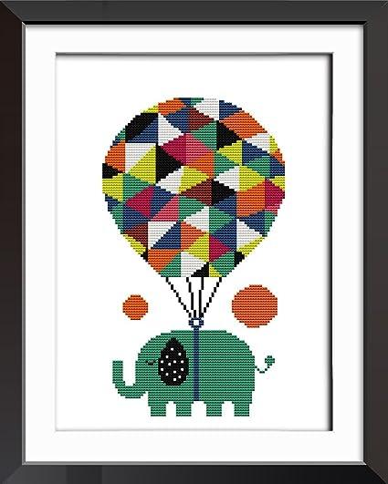 8e801965f33e Amazon.com  Cross Stitch Embroidery Starter Kit Including 14ct ...