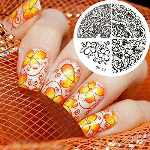 Nail Art Stamping Bild Metal Platte Nail Art Design Muster Vorlage Weihnachten - AP01 - FashionLife