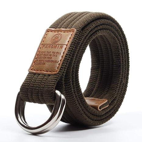 CHAOBAOBAO Hombres Y Mujeres Hebilla De Doble Anillo Cinturón De ...