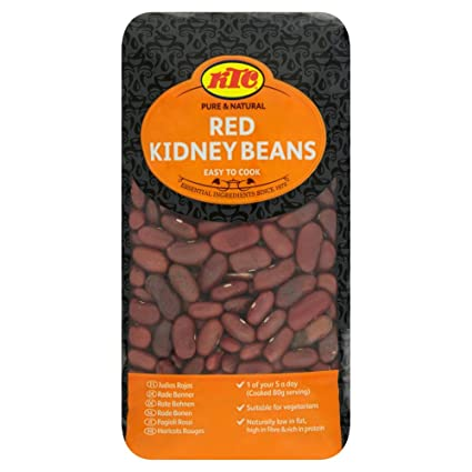 Amazon Com Red Kidney Beans Ktc Natural Easy To Cook 500g Bag Grocery Gourmet Food