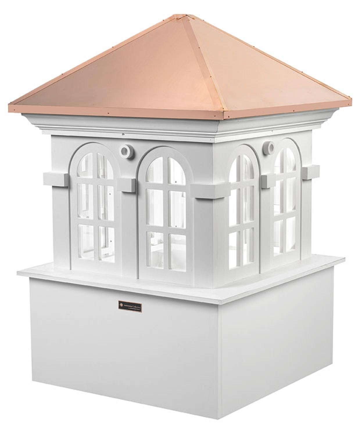 88'' Smithsonian Collection Handcrafted ''Chesapeake'' Copper and Vinyl Roof Cupola