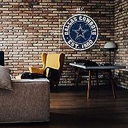 "Dallas Cowboys 22"" Round PVC Distressed Logo Wall"