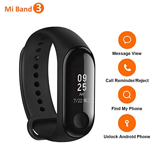 Xiaomi Mi Band 3 Wristband, 0.78 Inch OLED Touch Screen, Heart Rate Monitor Fitness Tracker, Alarm Clock, iPhone Android Smart phone Call Reminder
