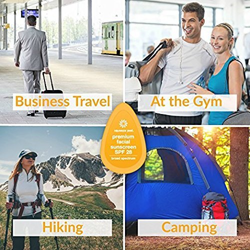 Squeeze Pod Travel Facial Sunscreen - 8 Single Use Pods – Fragrance Free, TSA Approved Travel Size Sunblock Made with Premium Natural Ingredients - Best for Air Travel, Camping, Hiking & Golf Bag SS5 by Squeeze Pod (Image #7)
