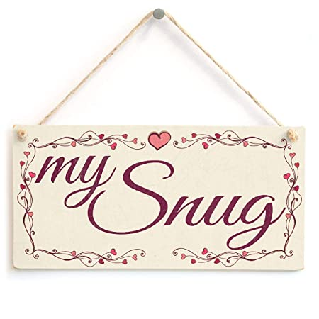 Mr.sign My Snug Cartel de Pared Madera Placa Madera Palet ...