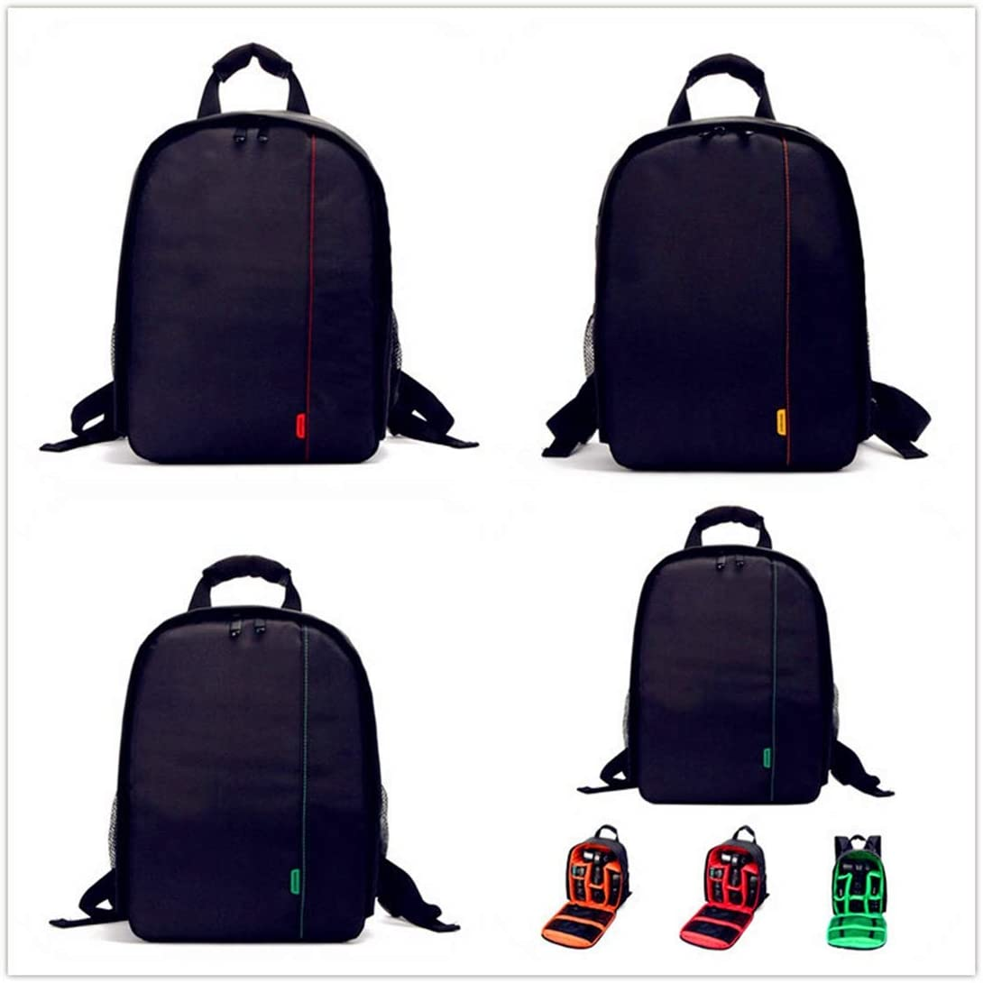 Color : Orange Hexiaoyi Outdoor Leisure Photography Small Shoulder Camera Bag SLR Digital Camera Camera Backpack