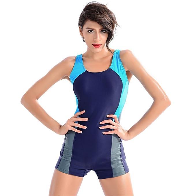 Dabag-Mujer Golpear El Color Deportes Bikini Bañador De Deportes Una Pieza: Amazon.es: Ropa y accesorios