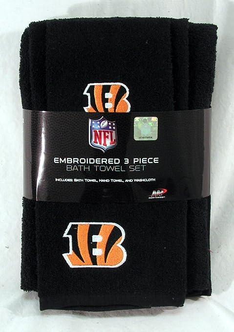 c5c91a4c The Northwest Company Cincinnati Bengals NFL 3 PC Embroidered Bath Towel  Gift Set