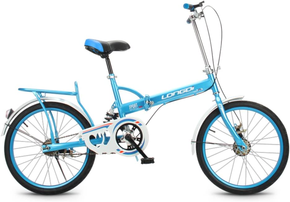 HIKING BK Portable Carbike Permanent Folding Bike Bicycle Adult Students Ultra-Light Portable Womens 20-inch City Riding with Basket