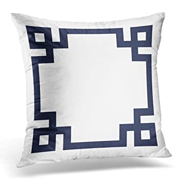 Amazon.com: emvency Throw almohada cover Azul Marino y color ...