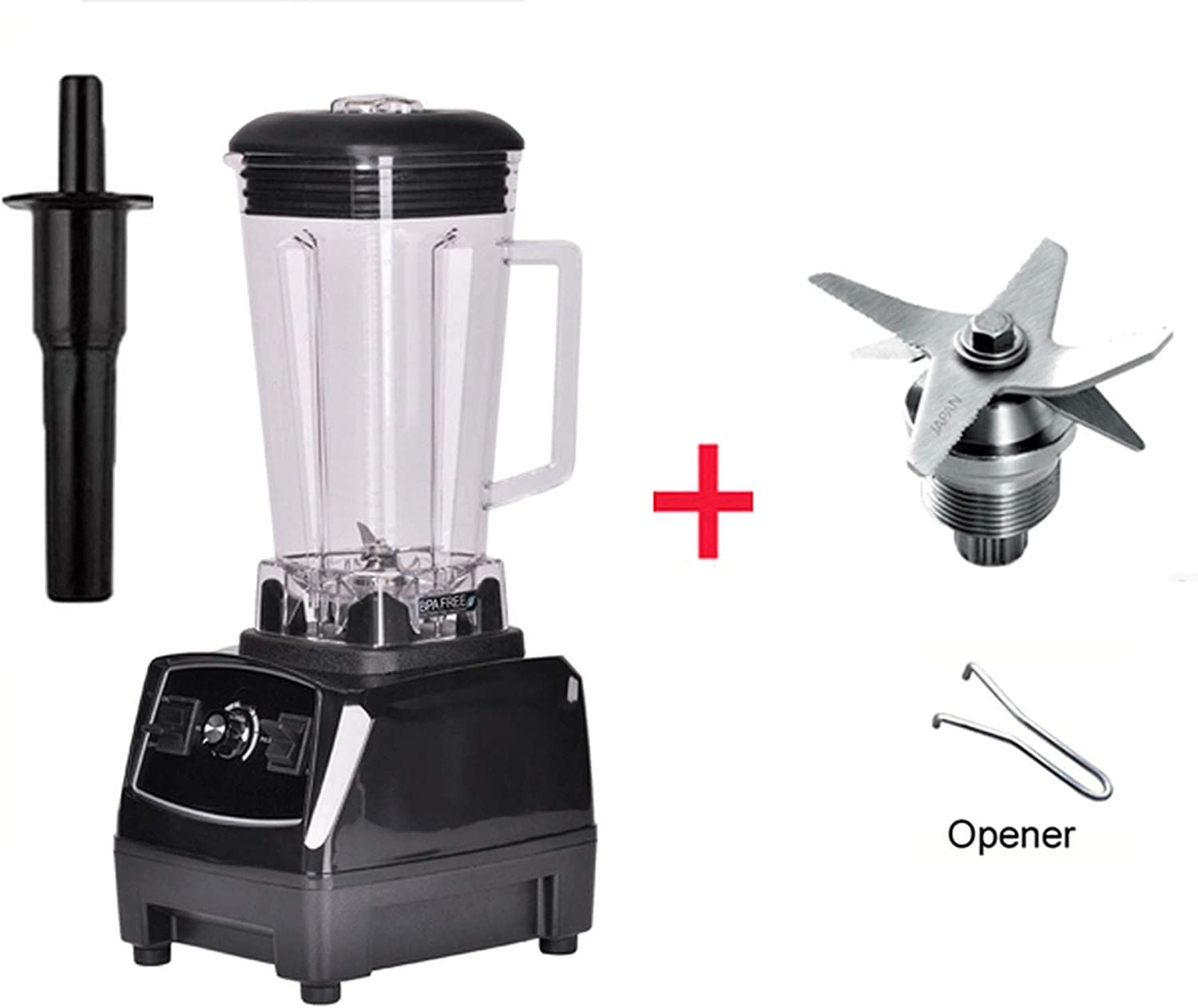 2200W BPA FREE 3HP 2L G5200 high power commercial home professional smoothies power blender food mixer juicer fruit processor,BLACK BLADES TOOL