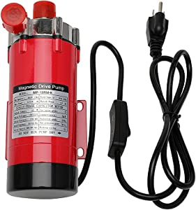 HARPOON Home Brewing Pump, MP- 15RM Magnetic Beer Water Pump,Stainless Steel 304 Food Grade, High Temperature Resistance with CE Certification, 110V US Plug, 1/2