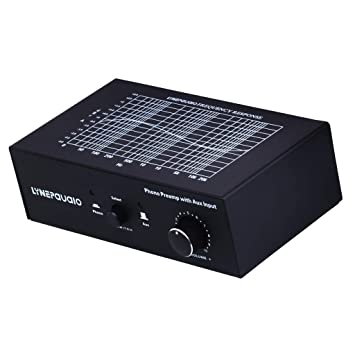 Baoblaze B855 Preamplificador Phono con AUX Controlador de Volumen Altavoz Audio Estéreo