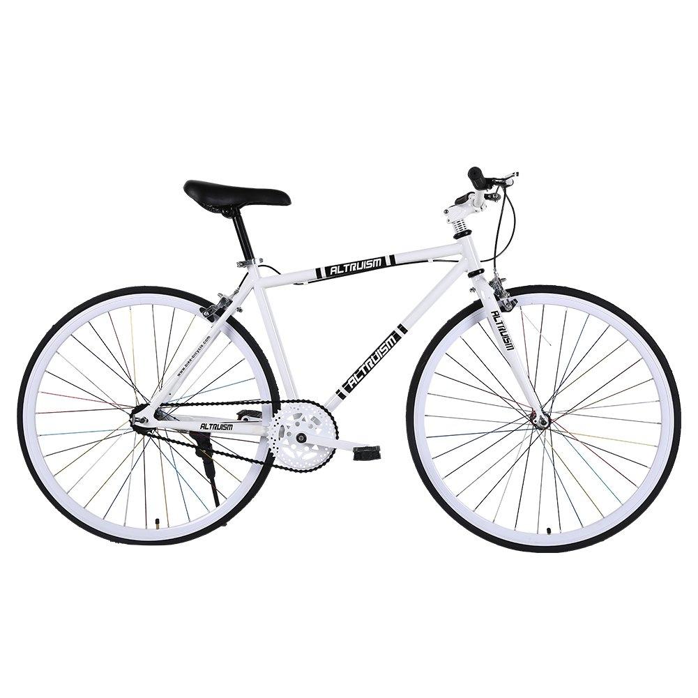 Altruism S6 自転車 26インチ タイヤ 700c ロードバイク クロスバイク 軽量 男性 女性 B01KHEX4RE白