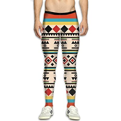 Olivefox Fit Clothes UV for Men Compression Sports and Fitness Tights Workout Pants Breathable Multi-Element Printing Cool Dry Baselayer Running Leggings Yoga 3D Apparel Print Pant
