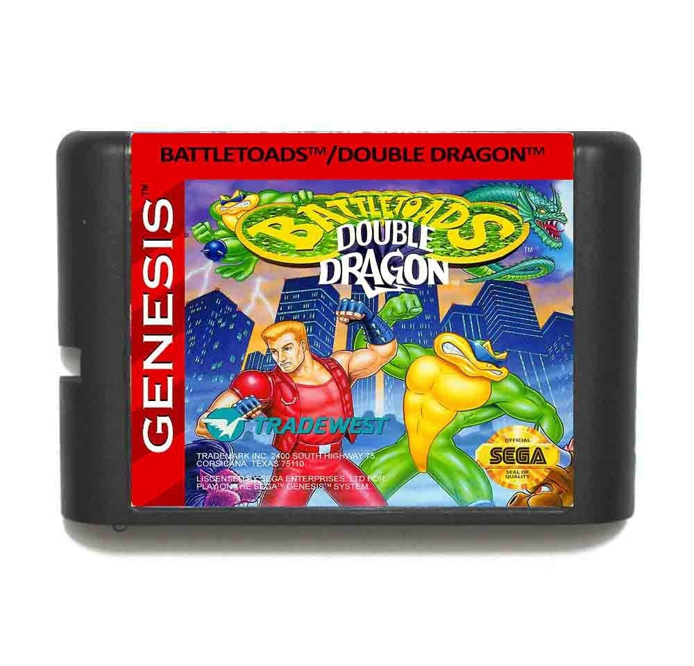 ROMGame Battletoads And Double Dragon The Ultimate Team 16 Bit Md Game Card For Sega Mega Drive For Genesis