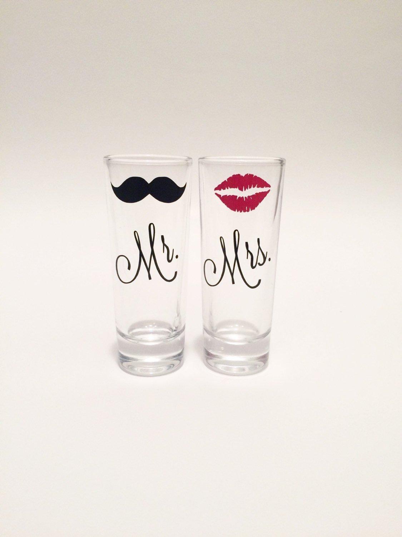 Mr. and Mrs. Shot Glass Set