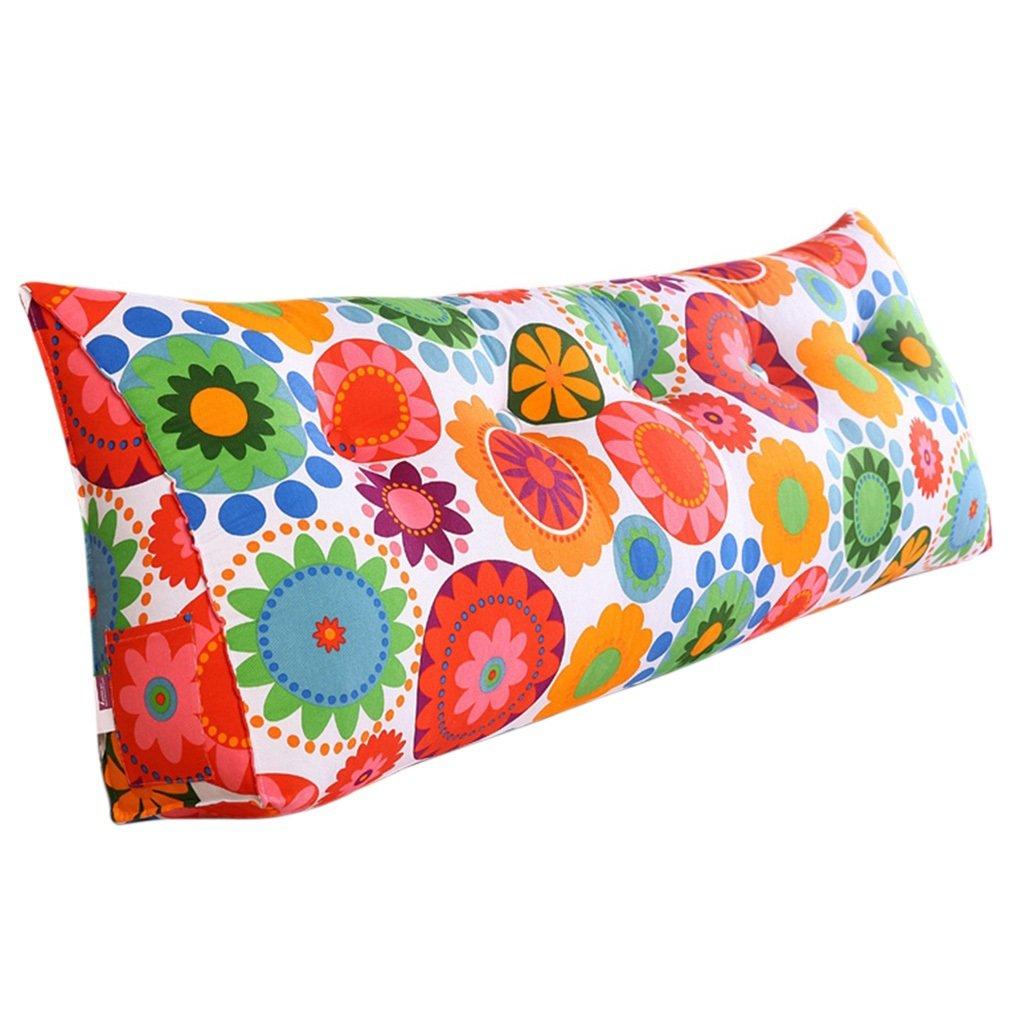 Lanna shop-ソファーベッドLarge Filled三角形ウェッジクッション寝室ベッド背もたれ枕Reading枕オフィス腰椎パッド取り外し可能なカバー 120*50cm B074Y2T7FY  120*50cm