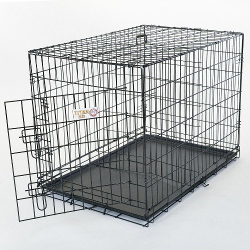 24 inch Single Door Folding Dog Crate By Majestic Pet Products Small