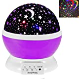 Amazon Price History for:Romantic Moon Star Rotating Projector Decoration Lamp Nightlight for Bedroom Living Room Color Changing Baby Shower Party Birthday Gift for Children Indoor Lighting (Purple)