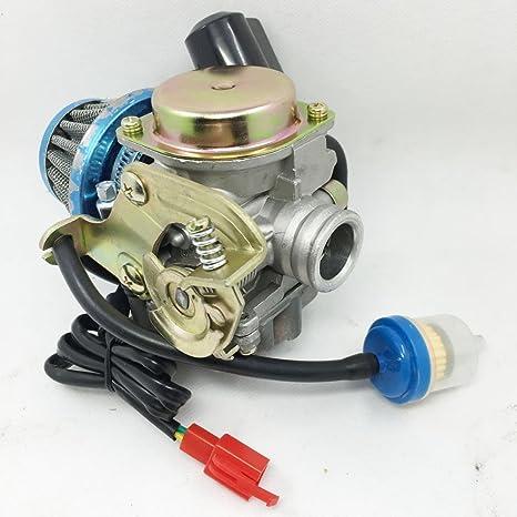 amazon com: carburetor& air filter motofino 50qt-2 50qt-6 eton sport 50  50cc scooter: automotive
