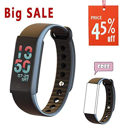 TEYO Smart Watch, Fitness Tracker 24-Hours Activity Tracker Watch, Fitness Watch Steps Calories Distance Counter Heart Rate Monitor Pedometer Watch, ...