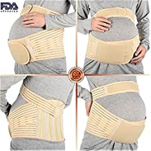 "#1 Best Support Maternity Belt by Abahub, Relieve Lower Back and Pelvic Pain, Beige, XXL(43-50"")"