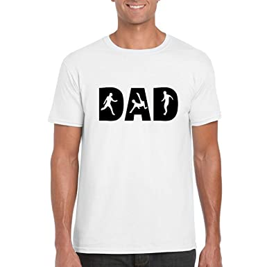 7f8365af YaYa cafe Giftsmate Fathers Day Gifts Men's Cotton Soccer Dad T-Shirt Small  White