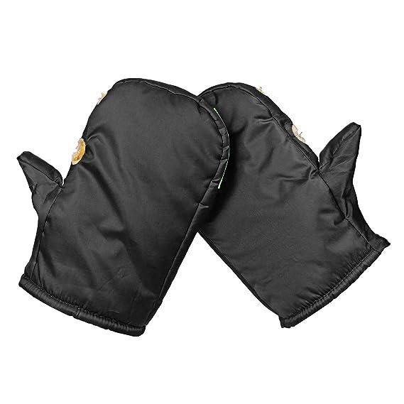 Wooya Impermeable Moto Vespa Manillar Invierno Guantes Caliente Orejeras Protección Térmica Negro-Cyan: Amazon.es: Hogar