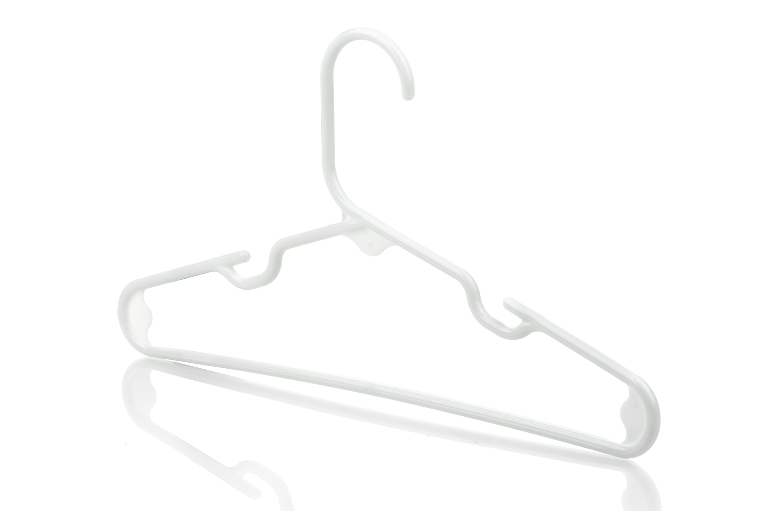 Neaties USA Made Children's Small White Plastic Hangers, 60pk by Neaties (Image #3)