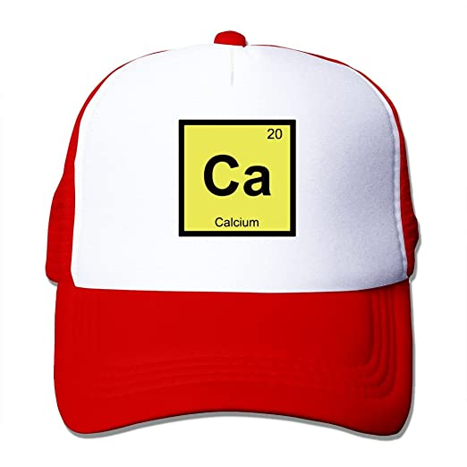 Amazon Wzn Calcium Periodic Table Of Elements Hats With Red