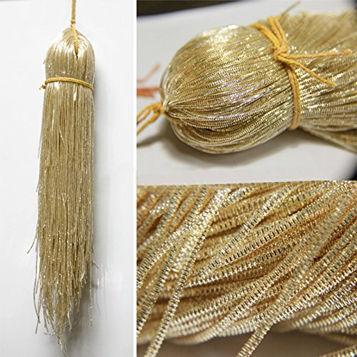 French Bullion Wire(Nakshi), Sun Kiss Color, 1MM, 50.29 Mtr(100 Gram) (Bullion Wire French)