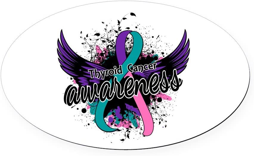 Amazon Com Cafepress Thyroid Cancer Awareness 16 Oval Car Magnet Euro Oval Magnetic Bumper Sticker Automotive