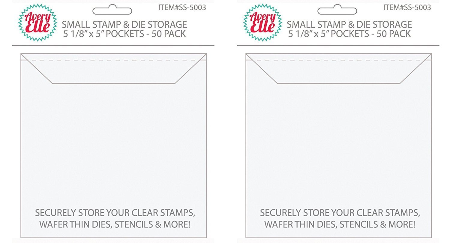 Avery Elle Stamp and Die Small Storage Pockets SS-5003 (Pack of 2)