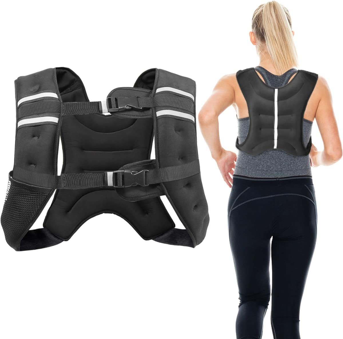 Letra Weighted Vest Workout Equipment Walking for Men Women Jogging Training Workout 12lbs//16lbs Body Weight Vests Adjustable for Running