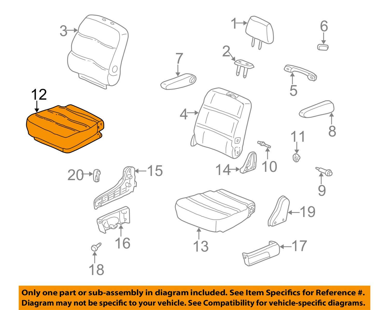 Middle Honda Genuine 81331-S0X-A21ZA Seat Cushion Trim Cover Right