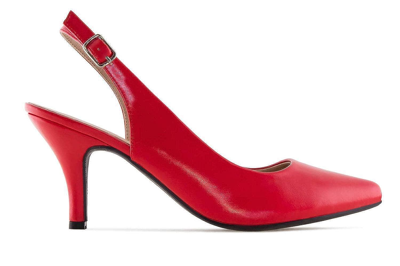 Andres Machado Pumps in Übergrößen Rot AM5231 AM5231 AM5231 Soft rot große Damenschuhe 0f59f9
