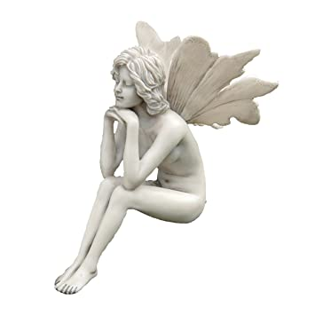 Design Toscano The Secret Garden Fairies: Pondering Fairy Statue