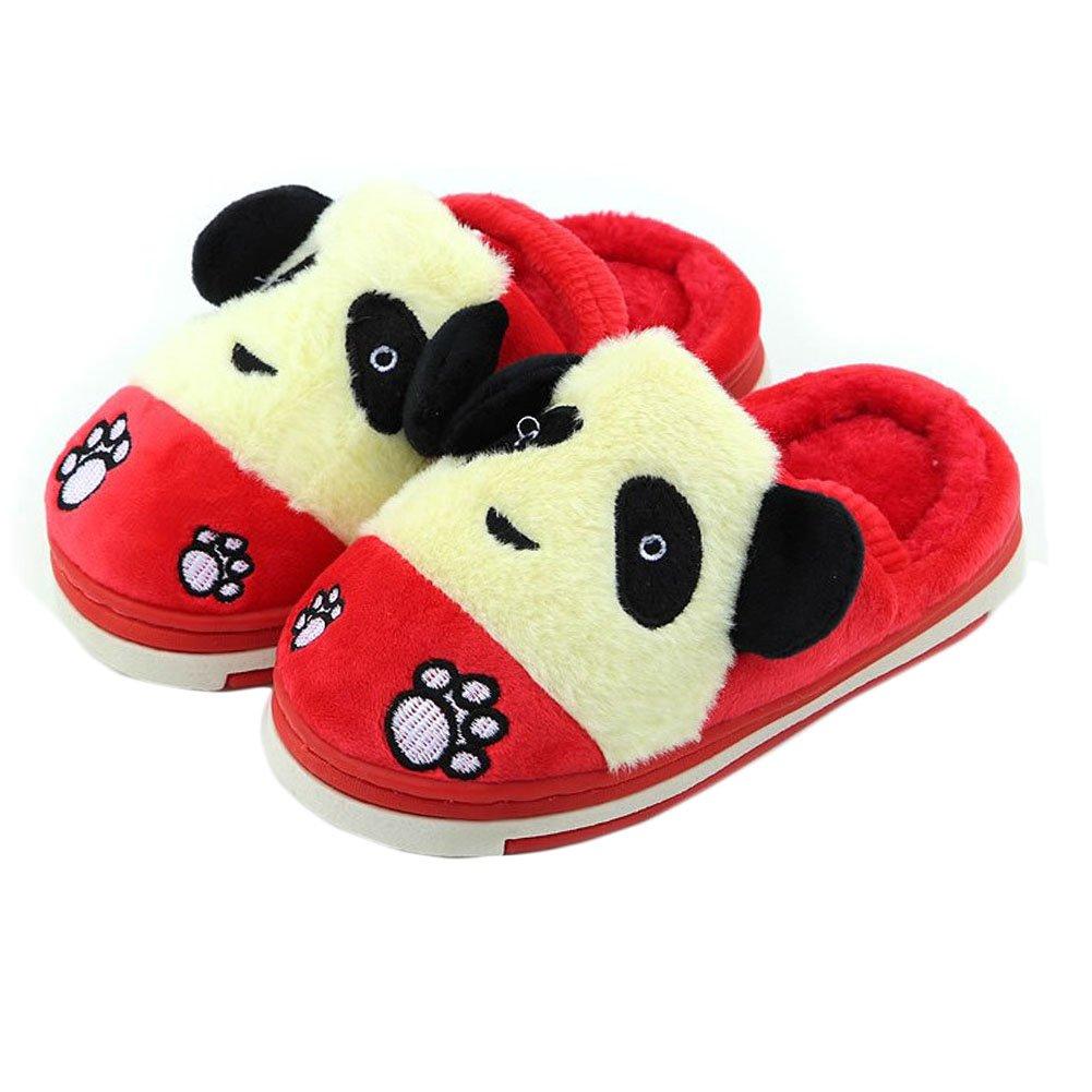 Cute Panda Winter Shoes Warm Indoor