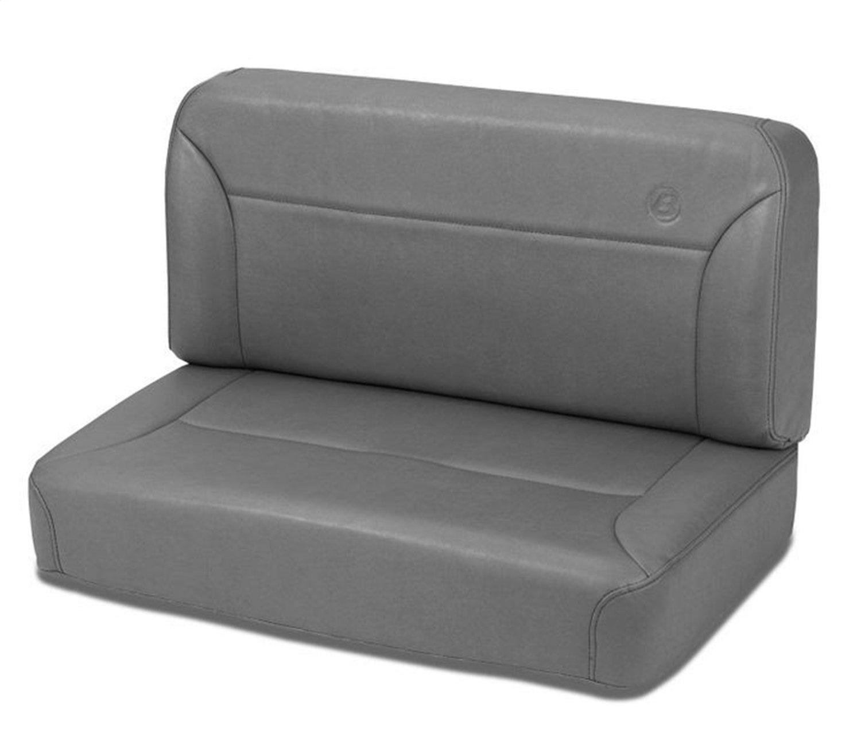 Bestop 39437-09 TrailMax II Charcoal All-Vinyl Fixed Rear Bench Seat for 1955-1995 CJ5 CJ7 and Wrangler YJ