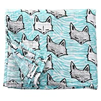 Nursery Muslin Baby Boy Girl Breathable Cotton Receiving Blankets (Fox)