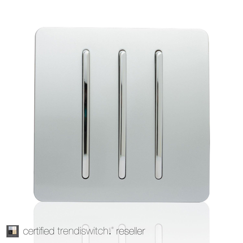 Trendi Switch Switch – Schalter Design – 3 Tasten – 10 Amp – Silber ...