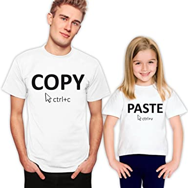 Amazon.com: Copy and Paste Father and Daughter Matching Family T ...
