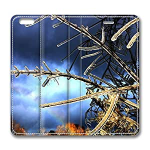 iPhone 6 Leather Case, Personalized Protective Flip Case Cover Tree Twigs Covered In Ice for New iPhone 6 by icecream design