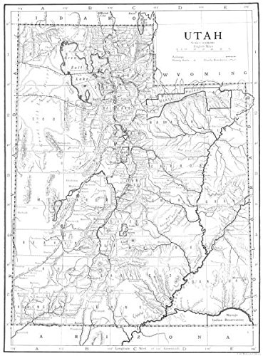 Amazon.com: UTAH. Utah - 1910 - old map - antique map ...