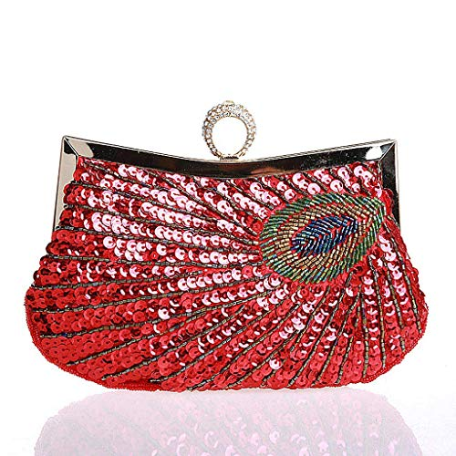 femme Taille M fugenzhang Pochette pour Red tEY1nPTqxw